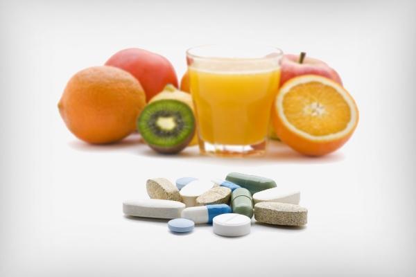 Употребление витаминов и приём минеральных веществ